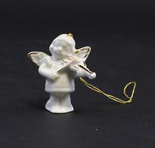 9942168 Porzellan Figur Wagner&Apel Engel Geige Weihnachtsbaum weiß gold 4,5cm