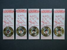 SET OF 5 ORIGINAL 1964 BEATLES RECORD JEWELLERY BROOCHES ON BACKING CARD
