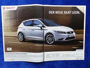 229) Seat Leon - Werbeanzeige Reklame Advertisement 2013
