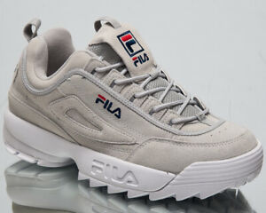 Fila Disruptor S Low Mens Grey Violet Chunky Sneakers Casual Shoes 1010577-3JW