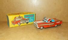 vintage tin toy MASUYA TOYS Japan (MS98) Oldsmobile 98 FIRE CHIEF with box - 50s