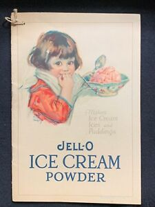 Antique Vintage Jello Ice Cream Powder Advertising Booklet Recipe 1925