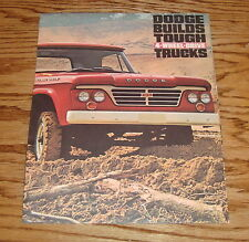 Original 1963 Dodge 4-Wheel Drive Truck Foldout Sales Brochure 63