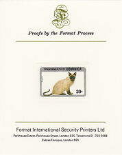 Dominica 4211 - 1984 SIAMESE CAT  imperf on Format International PROOF  CARD