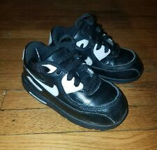 Nike air max 90 toddler boys size 8C black and white shoes for $60