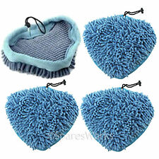 4 x Coral Microfibre Covers Pads for Efbe Schott Delta HST78Y Steam Cleaner Mop