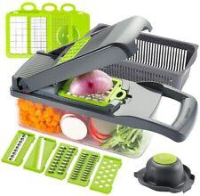 Vegetable Chopper Slicer Dicer - 12-in-1 Fruits Cutter Mandoline Slicer Food