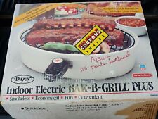 DAZEY New-In-Box Electric Smokeless Indoor BAR-B-GRILL PLUS -- Non-Stick Grill