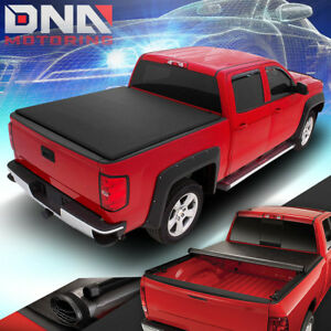 FOR 2014-2018 CHEVY SILVERADO GMC SIERRA 6.5 FT BED SOFT ROLL-UP TONNEAU COVER