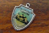 Vintage sterling silver ALABAMA THEATRE TRAVEL SHIELD charm #E34