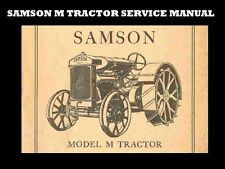 Samson M Tractor Service Operations Manual for Tuning Maintenance & Repair