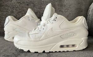 Nike Air Max 90 White Trainers Uk Size 6 Unisex