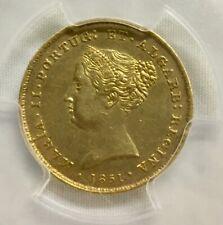 1851 Portugal 2500 Gold Reis, Maria II, PCGS AU 50
