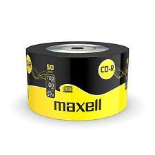50 CD-R MAXELL DISCHI VUOTI REGISTRABILI CD 700 MB 80 min 52x CDR-strizzacervelli avvolto