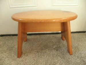 Vintage Handcrafted Pine Wooden Step Stool makes great Plant Stand