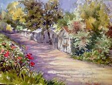 original Plein Air Watercolor BY PAMELA WILHELM At Jessie's Grove Winery Lodi CA