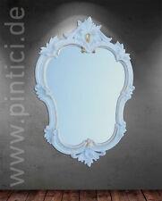 Espejo de Pared Blanco Oro Retro muebles vintage Oval antiguo 50x35 Barroco