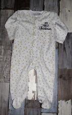 """~ Superbe Pyjama en velours blanc IN EXTENSO fille 18 mois ~ """"NOEL"""""""