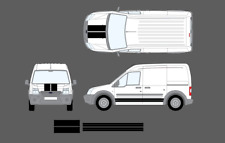 Ford Transit Connect MK1 09-13 Bonnet & Side Stripe Decal Graphic Sticker Set ST