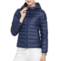 Women's Ultralight Hooded Down Jacket Puffer Parka Coat Short New Factory Sale