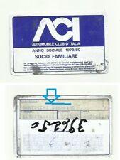Guerino Bertocchi  MASERATI , 1980 AUTOMOBILE CLUB ITALIA CARD member
