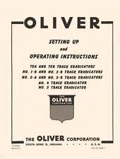 Oliver 1B 2B 3A 3B 4 5 Eradicator Operators Manual