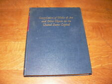 Compilation of Works of Art & Other Objects, United States Capitol HC Book~1965