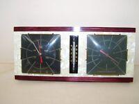 sehr dekoratives altes Hygrometer Barometer Thermometer aus Holz