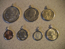 8 COIN BEZELS, GOLD PLATED, ONE OF EACH SIZE + 0NE