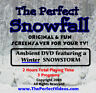 NEW! The Perfect Snowfall DVD Winter SNOWSTORM Video Blowing Snow Scenes Snowing
