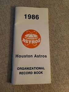 1986 Houston Astros Organizational Record Book Booklet