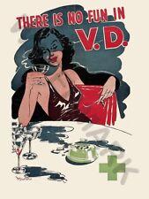 AD SEXUAL HEALTH NO FUN VENEREAL DISEASE WALL POSTER ART PRINT LF3130
