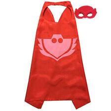 Boys Kids Superhero PJ Masks Cape Mask Set Owlette Catboy Cosplay Costume.Party