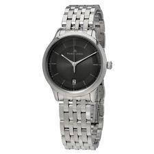 Maurice Lacroix Les Classiques Black Dial Mens Stainless Steel Quartz Watch