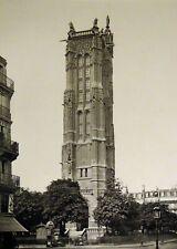 Pierre Lampué Square et tour Saint Jacques Paris Héliogravure XIXème