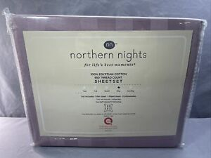 Northern Nights 650TC Egyptian Cotton Sheet Set King Mauve Stripe
