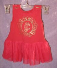 Juicy Couture Baby Girl Dress with Tutu Stretchy 3T Read Whole Auction Orange