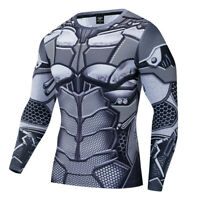 Superhero Batman Costume Cosplay Compression Tights Quick-Drying T-Shirt Tops