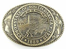 Tony Lama Collection Belt Buckle SOUTH DAKOTA State Series Solid Brass