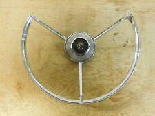 Used 57 58 Ford Fairlane 3 Spoke Horn Ring #feg-3624-w Black Center
