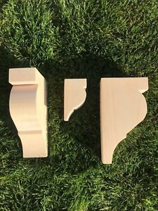 Wooden Corbels (mantle Shelf Brackets) solid pine style QQ (1 pair)