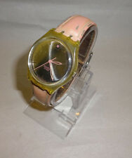 Swatch AG 2003 Pink Flower Mirror Dial Swiss Made Watch New Battery #430