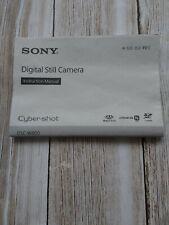Sony DSC-W800 Digital Camera Manual Used Item