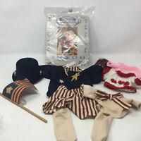 Treasured Toggery 4 Piece Bear Clothing Set BEARING HOPE Girl Pilgrim Outfit