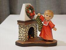 "Sarah Kay Anri Italy First Christmas Girl Hanging Stocking Figure 4"" 193/500"