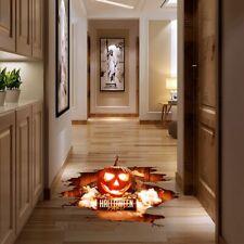 Window Halloween Decoration Removable 3d Floor Stickers Scary Pumpkin Shapedon