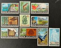 New Zealand. Definitive Short Set. SG870/79. 1967. MNH.  #AH305