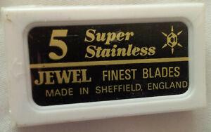 VINTAGE UNOPENED PACK OF JEWEL RAZOR BLADES MADE IN SHEFFIELD ENGLAND
