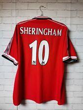Manchester United 1998-2000 Home #10 Sheringham Original Football Shirt XXL