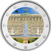 2 Euro Gedenkmünze BRD 2020 Schloss Sanssouci  coloriert / Farbe / Farbmünze 2